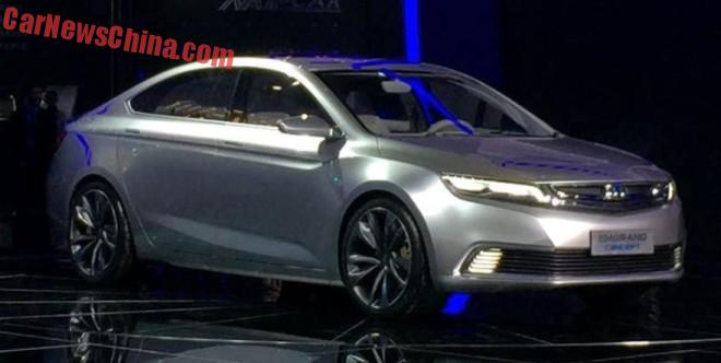 Geely Emgrand Concept unveiled at the Shanghai Auto Show in China