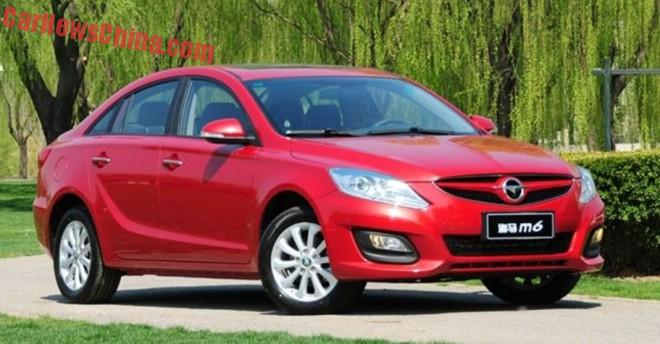 This is the new Haima M6 for the Chinese auto market