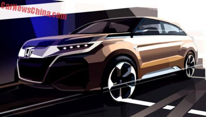 Honda teases crossover concept for the Shanghai Auto Show