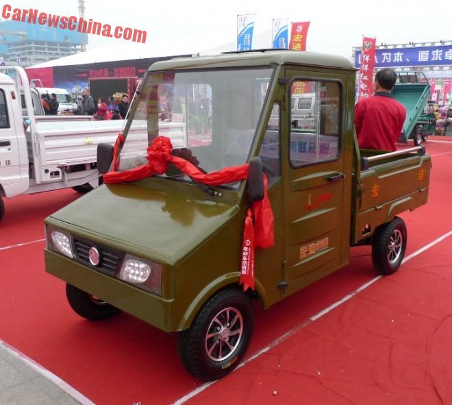 Shandong EV Expo in China: the Hongdi Little Flying Tiger mini truck