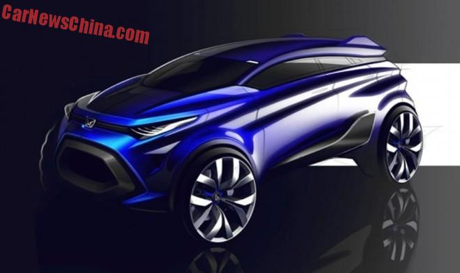 First images of the Jiangling Yusheng S330 concept for the Shanghai Auto Show