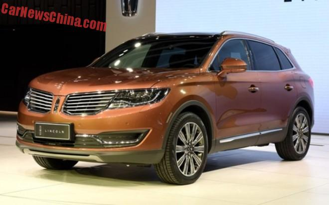 2016 Lincoln MKX debuts on the Shanghai Auto Show in China