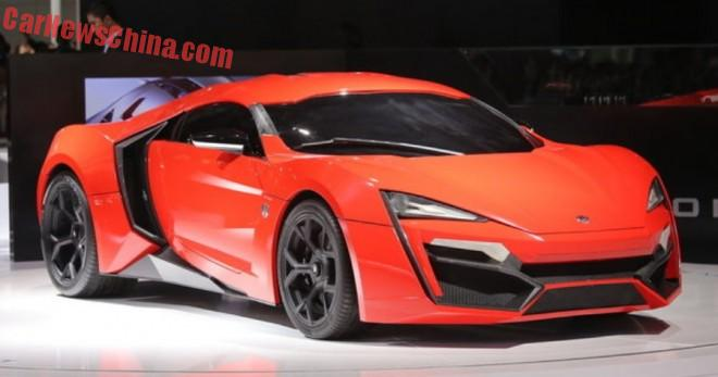 W Motors Lykan HyperSport launched on the Shanghai Auto Show