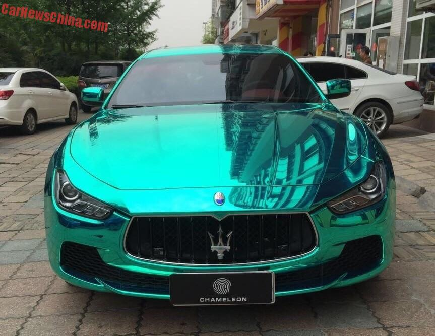 bling maserati ghibli is shiny light green in china. Black Bedroom Furniture Sets. Home Design Ideas
