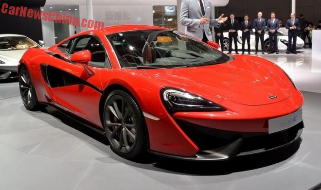 McLaren 540C launches on the Shanghai Auto Show in China