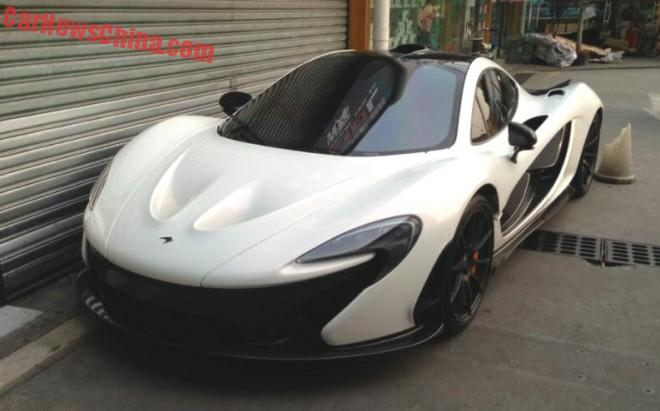 McLaren P1 supercar is White in China