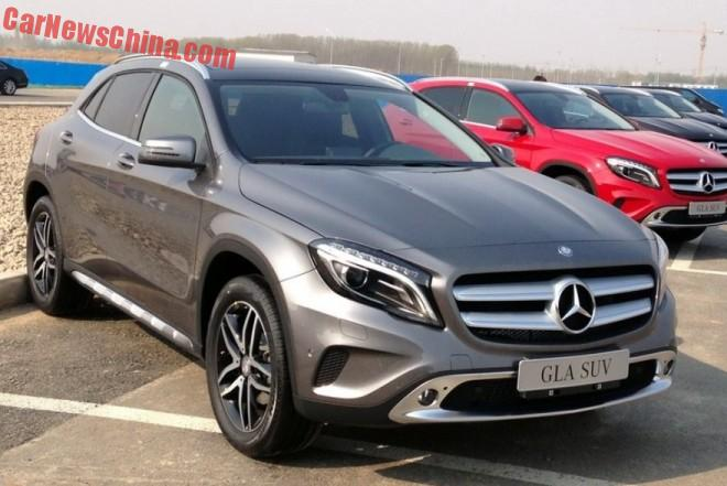The China-made Mercedes-Benz GLA SUV is Ready for the Chinese car market