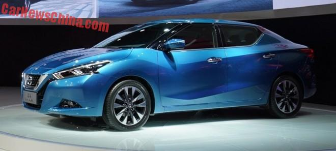 Nissan Lannia launched on the Shanghai Auto Show in China