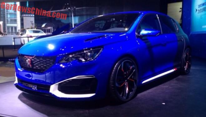 First Live Shots of the Peugeot 308R Hybrid concept for the Shanghai Auto Show