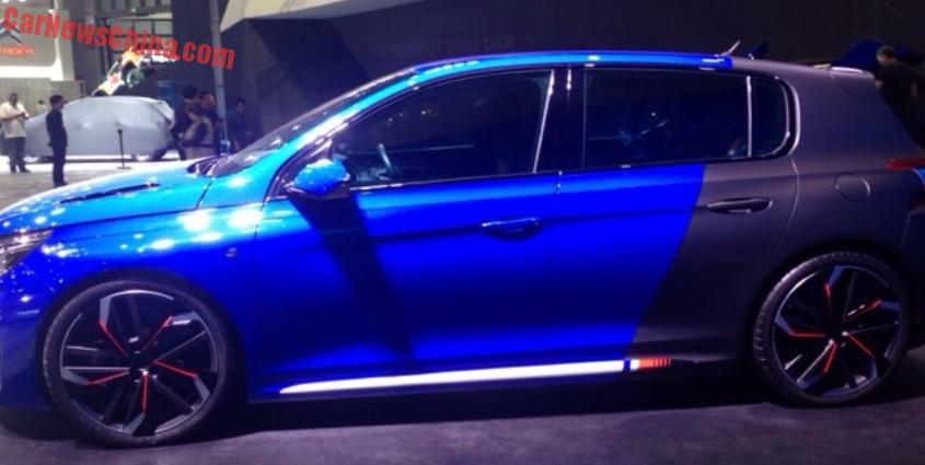 First Live Shots Of The Peugeot 308r Hybrid Concept For The Shanghai