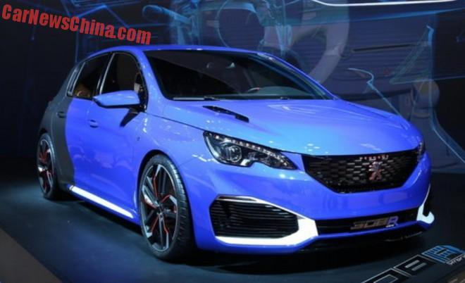Peugeot 308R Hybrid hits the Shanghai Auto Show in China