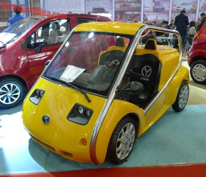 Shandong EV Expo in China: the Rodi RD220 Scootercar