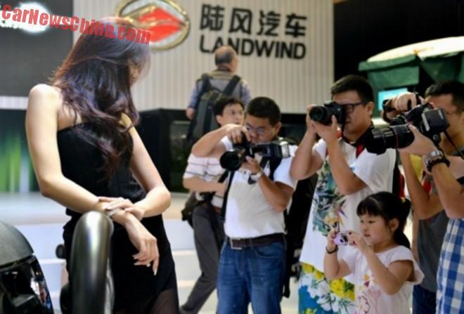 No Children allowed on the 2015 Shanghai Auto Show