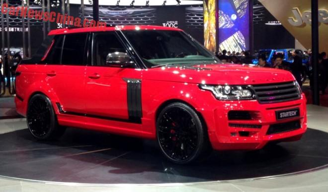 Startech Range Rover Pickup Truck hits the Shanghai Auto Show