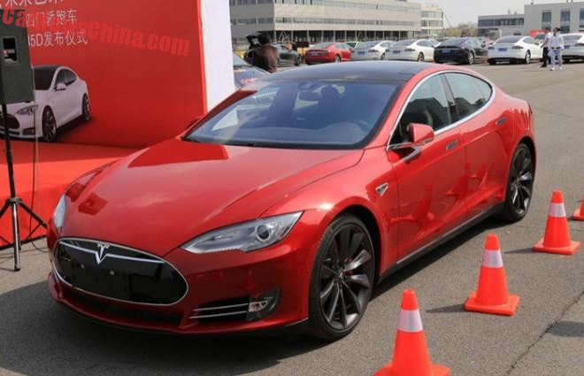 Tesla Model S P85D launched on the Chinese auto market