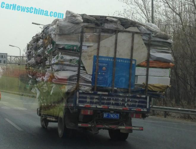 A slightly Overloaded truck in China