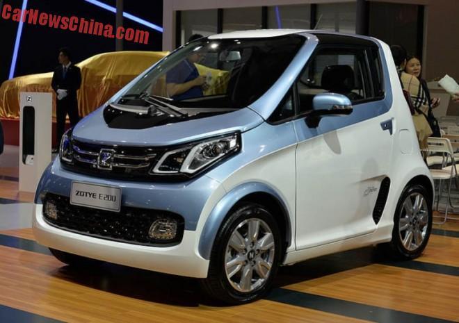 Zotye E200 EV electrifies the Shanghai Auto Show in China