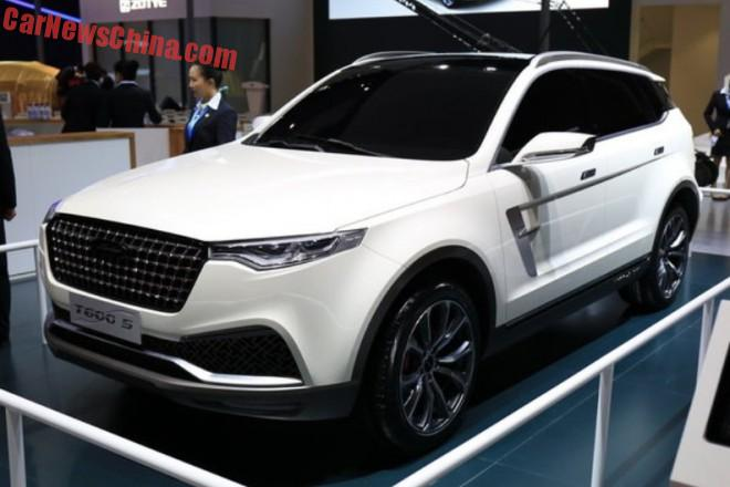 Zotye T600 S concept launched on the Shanghai Auto Show