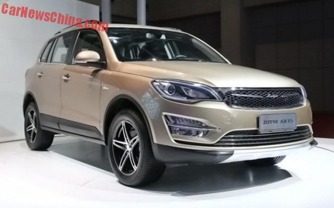 Zotye Damai X5 debuts on the Shanghai Auto Show