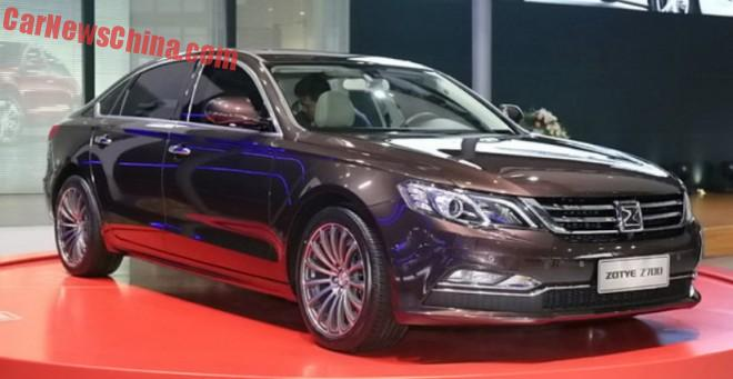 Zotye Z700 sedan debuts on the Shanghai Auto Show in China