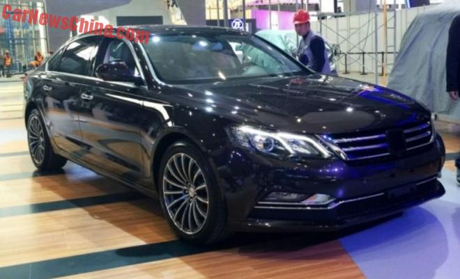The Zotye Z700 sedan arrives at the Shanghai Auto Show