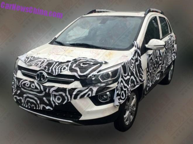 Spy Shots: Beijing Auto Senova X25 testing in China