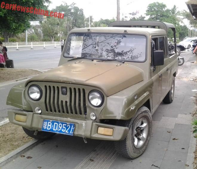 Spotted in China: Beijing Auto Works Zhanqi BJ2032HF33