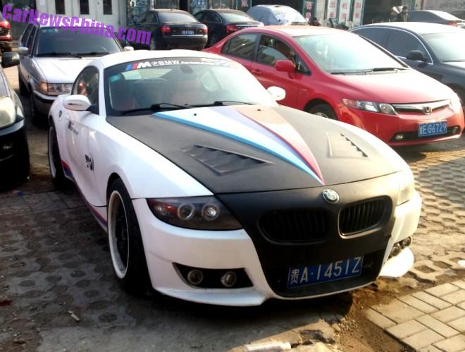 BMW Z4 is matte black & white in China