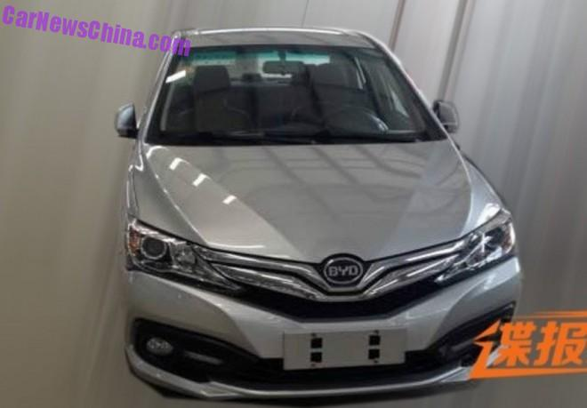 Spy Shots: facelifted BYD F3 testing in China