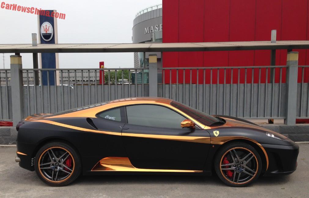 Who Owns Maserati >> Ferrari F430 is matte black & gold in China - CarNewsChina.com