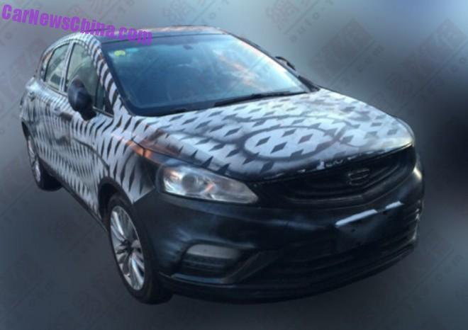 Spy Shots: Geely Cross seen testing in China