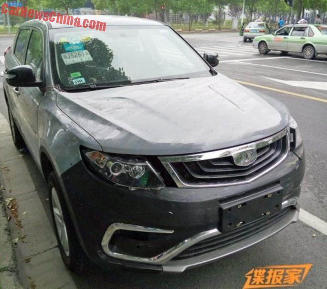 Spy Shots: Geely Emgrand NL-3 SUV is Almost Naked in China