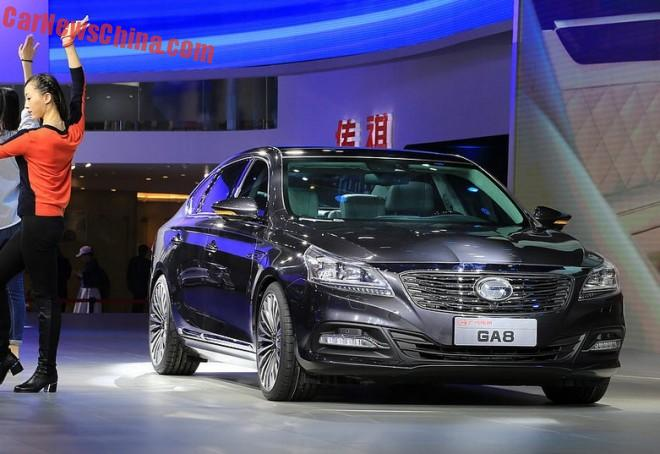 Guangzhou Auto Trumpchi GA8 will hit the Chinese auto market in September