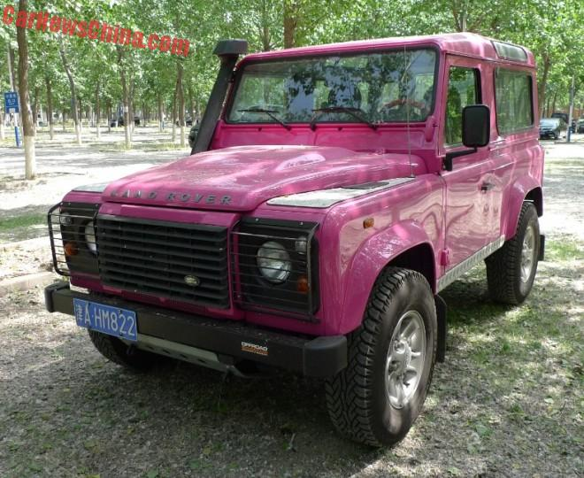 Land Rover Defender is Pink in China