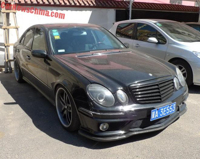 Mercedes-Benz E55 AMG has a License in China