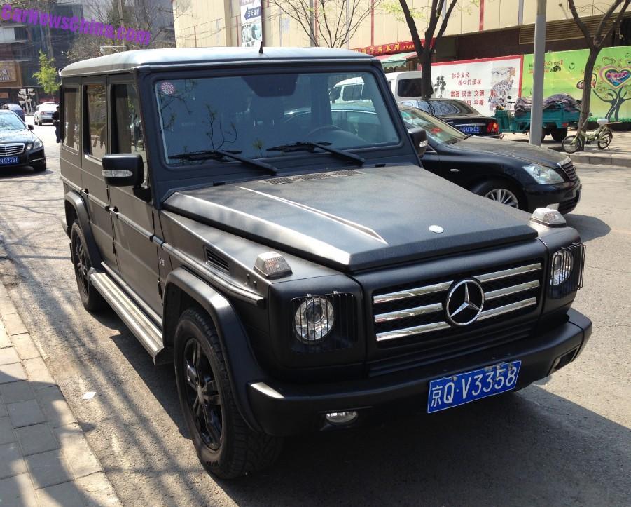 Mercedes Benz G500 Is A Matte Black Suv In China Carnewschina Com