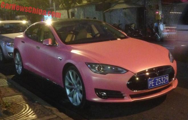 Tesla Model S is Pink in China