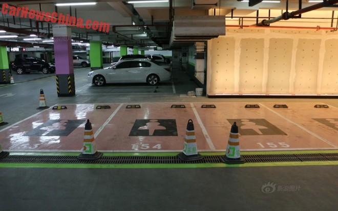 Women-only parking lot in Shanghai, China