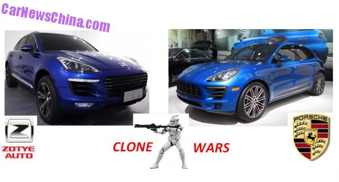 Porsche considering Legal Action against Zotye for Copying the Macan