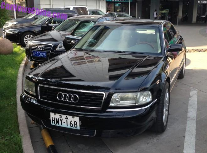 Spotted in China: first generation Audi A8, Times Two