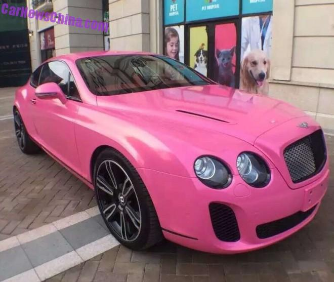 Bentley Continental Supersport is Pink in China