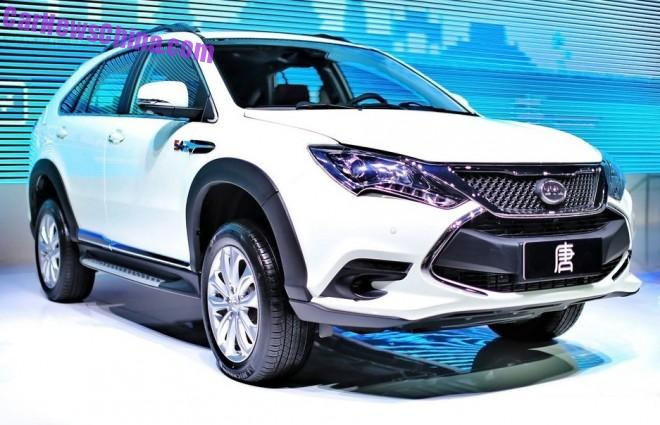 BYD Tang hybrid super SUV launched on the Chinese car market