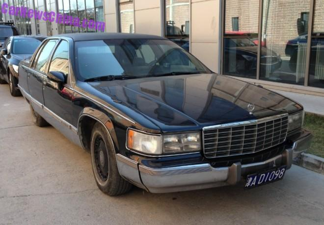 Spotted in China: Cadillac Fleetwood Brougham is Big & Black in China