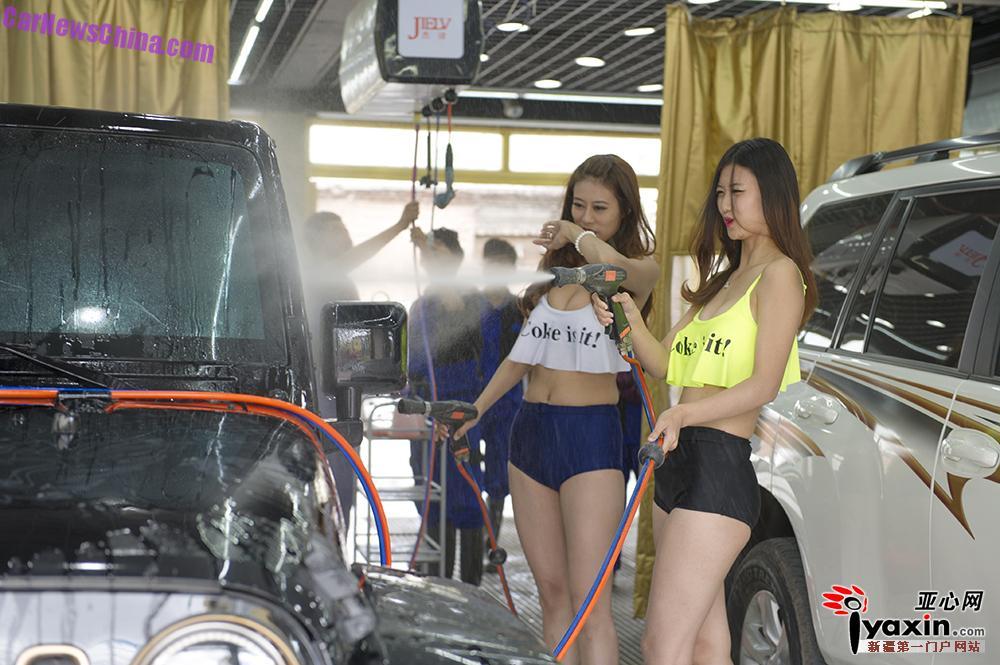 Consider, that bikini girls washing cars
