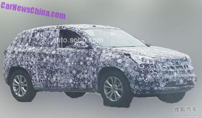 Spy Shots: Chery T15 SUV testing in China