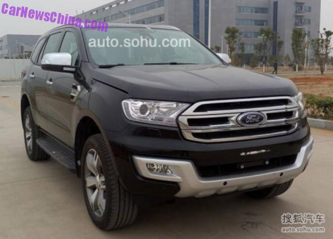 Spy Shots: Ford Everest SUV is Ready for the Chinese car market