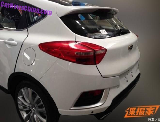 Spy Shots: Geely Cross shows some Ass in China