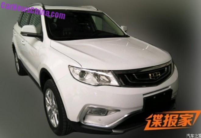 Spy Shots: Geely Emgrand NL-3 is Naked in China