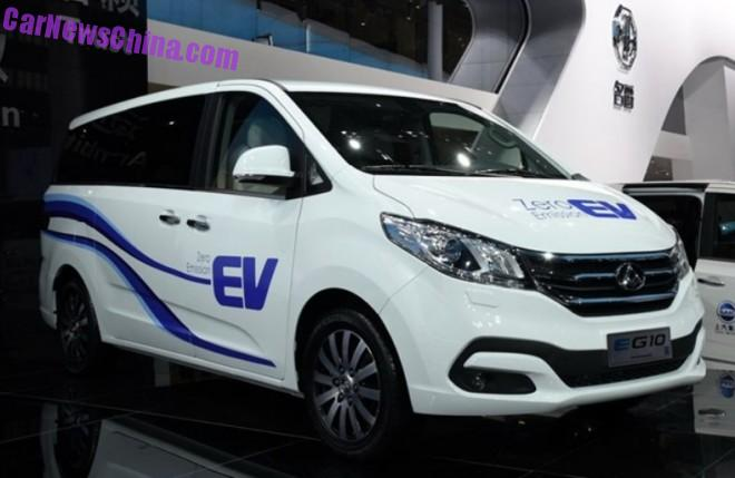 Maxus G10 MPV goes Electric in China
