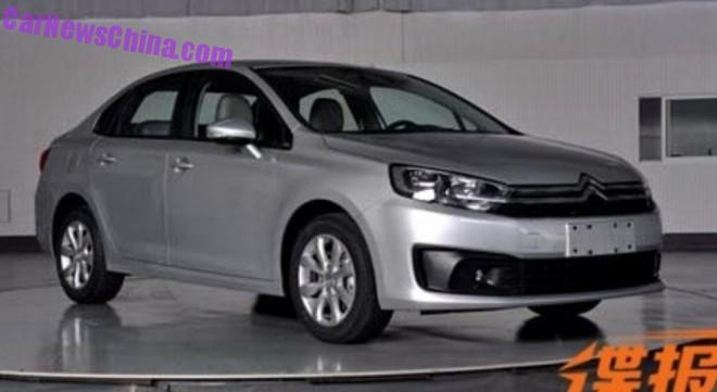 Spy Shots: Citroen C4 sedan is Ready for China